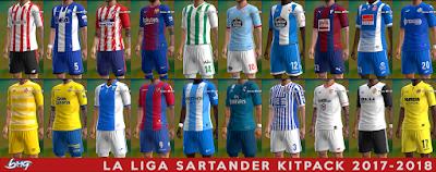PES 2013 La Liga Santander Kitpack Season 2017/2018 by BMG Kitmaker