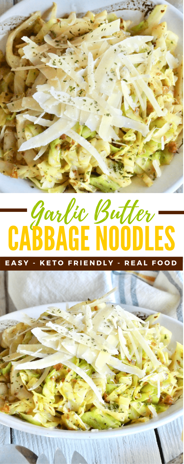 Easy Garlic Butter Cabbage Noodles #keto #healthy