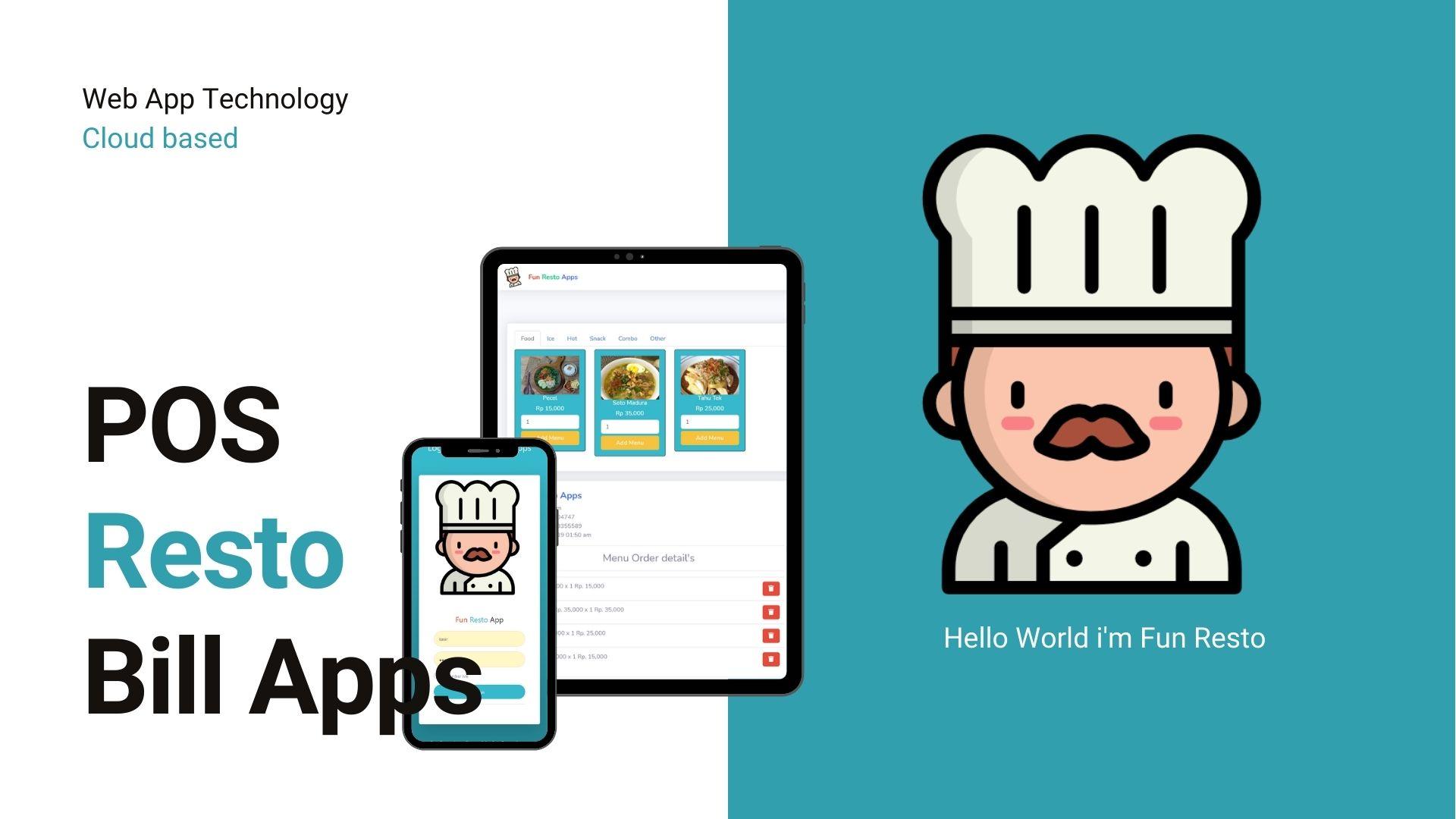 aplikasi restoran cafe modern website app