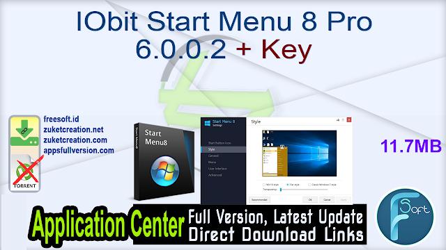 IObit Start Menu 8 Pro 6.0.0.2 + Key_ ZcTeam.id