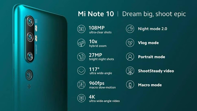 Harga dan Spesifikasi Xiaomi Mi Note 10