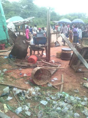 Amazing! Toddler pulled out alive after a truck smashed into shop in Imo State (photos)