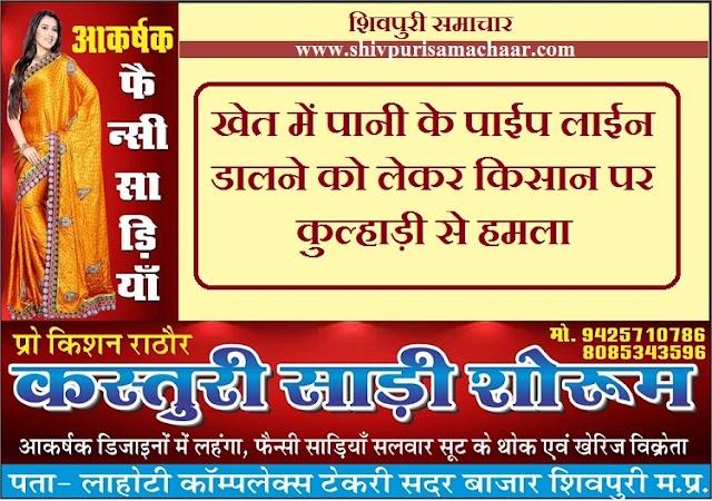 पोहरी के ग्राम गुढ़ा में किसान पर कुल्हाड़ी से हमला - Pohri News