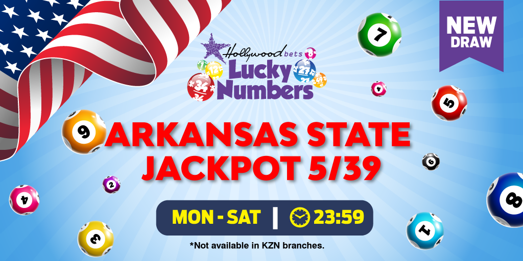 Arkansas State Jackpot 5/39 - Lucky Numbers - Hollywoodbets
