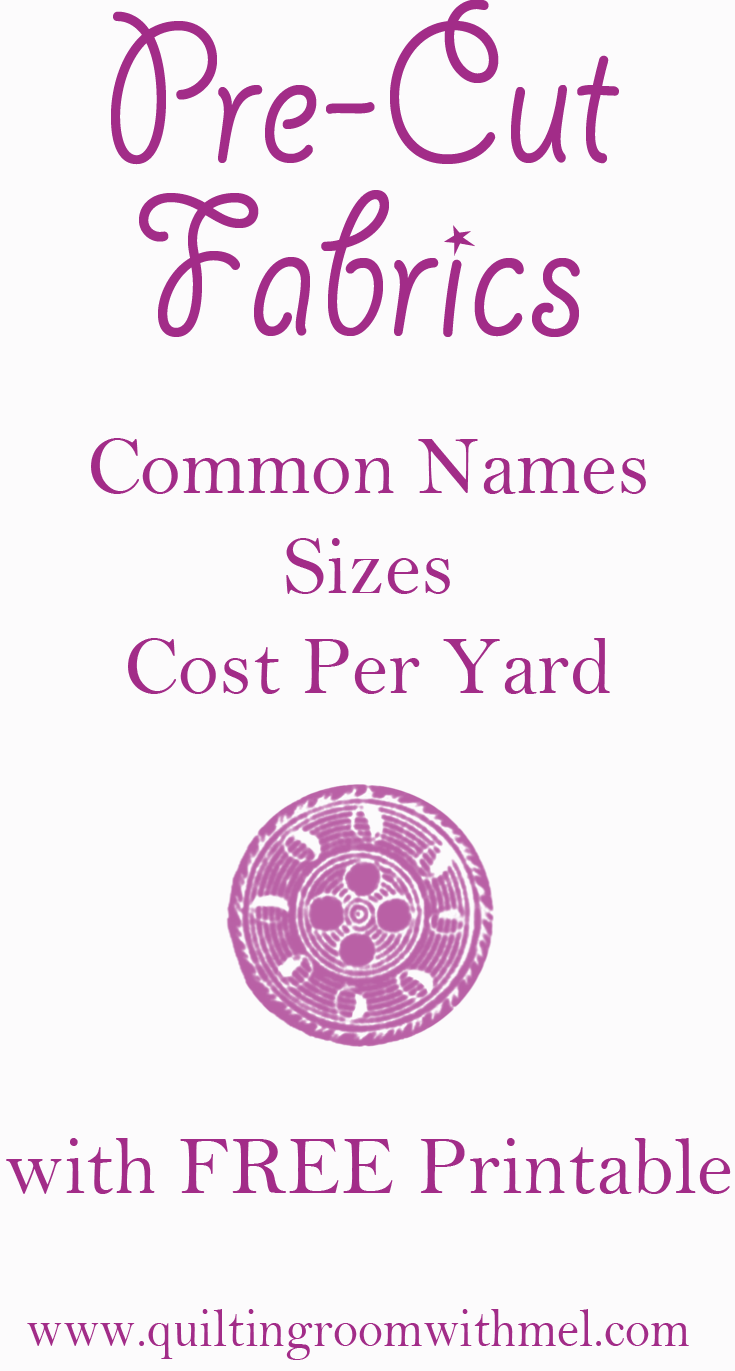 Pre Cut Quilting Fabrics Sizes Names And Average Cost