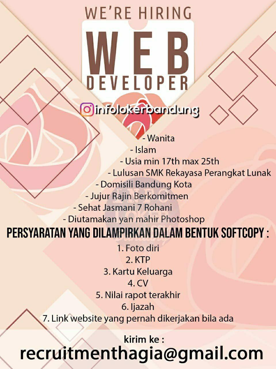 Lowongan Kerja Web Developer Online Shop Bandung Desember 2018