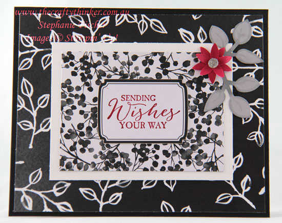 #thecraftythinker, #cardmaking, #easycard, #stampinup, Petal Passion Memories & More, Black & White card, Stampin' Up! Australia Demonstrator, Stephanie Fischer, Sydney NSW