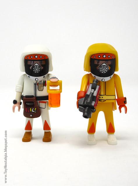 Marty y Doc Brown con traje contra radiactividad Playmobil Regreso al Futuro - Calendario de Adviento (Playmobil Back To The Future - Calendario de Adviento)