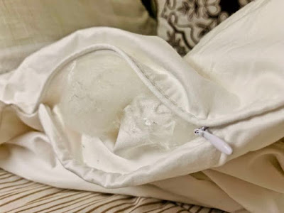 Silk duvet inspection zip.