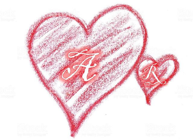 حرف r بالورد الطبيعي حرف r في قلب