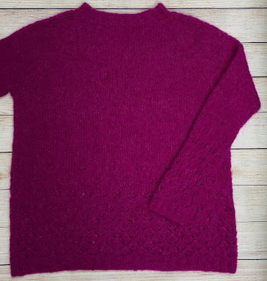 Pullover with lace pattern knitted with DROPS Brushed Alpaca Silk