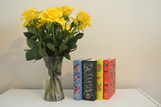 Puffin in Bloom Box Set, books and flowers