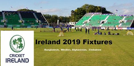 Ireland Cricket Fixtures 2019: Tri-Series, Afghanistan, Zimbabwe Tour Schedule
