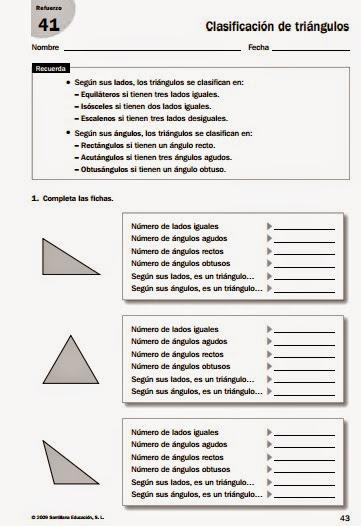 clasificacion de triangulos segun sus lados y angulos ejercicios pdf