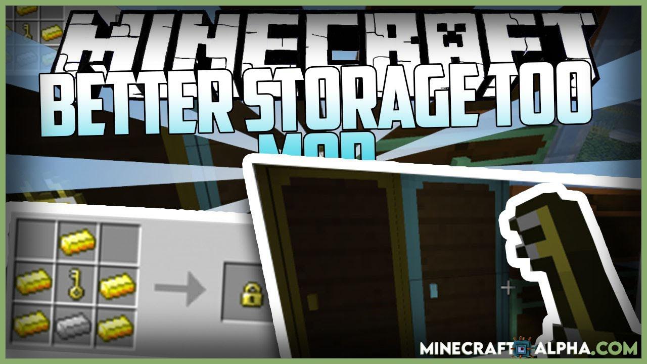 Minecraft Better Storage Too Mod 1.16.5 (More Storage Options)