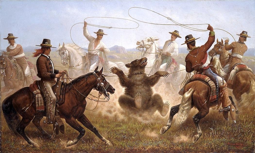 A drifting cowboy