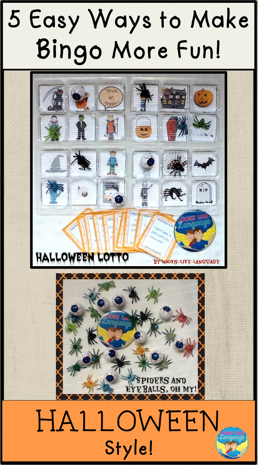 halloween therapy ideas from looks like language