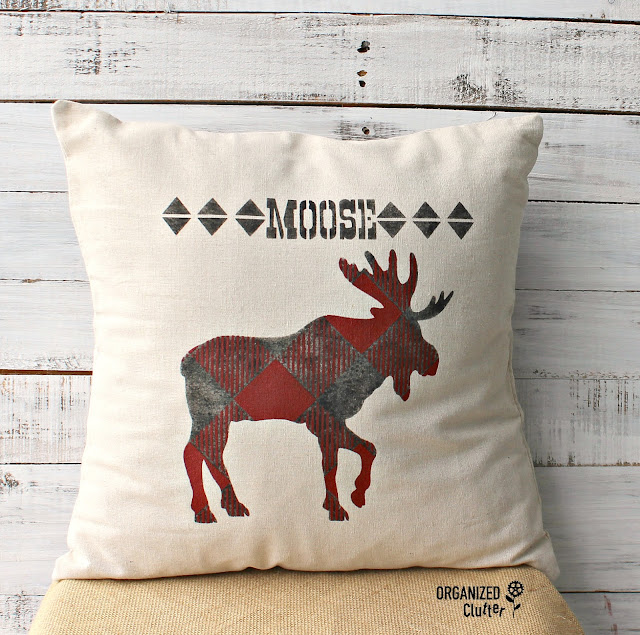 Easy DIY & Inexpensive Stenciled Pillow Cover