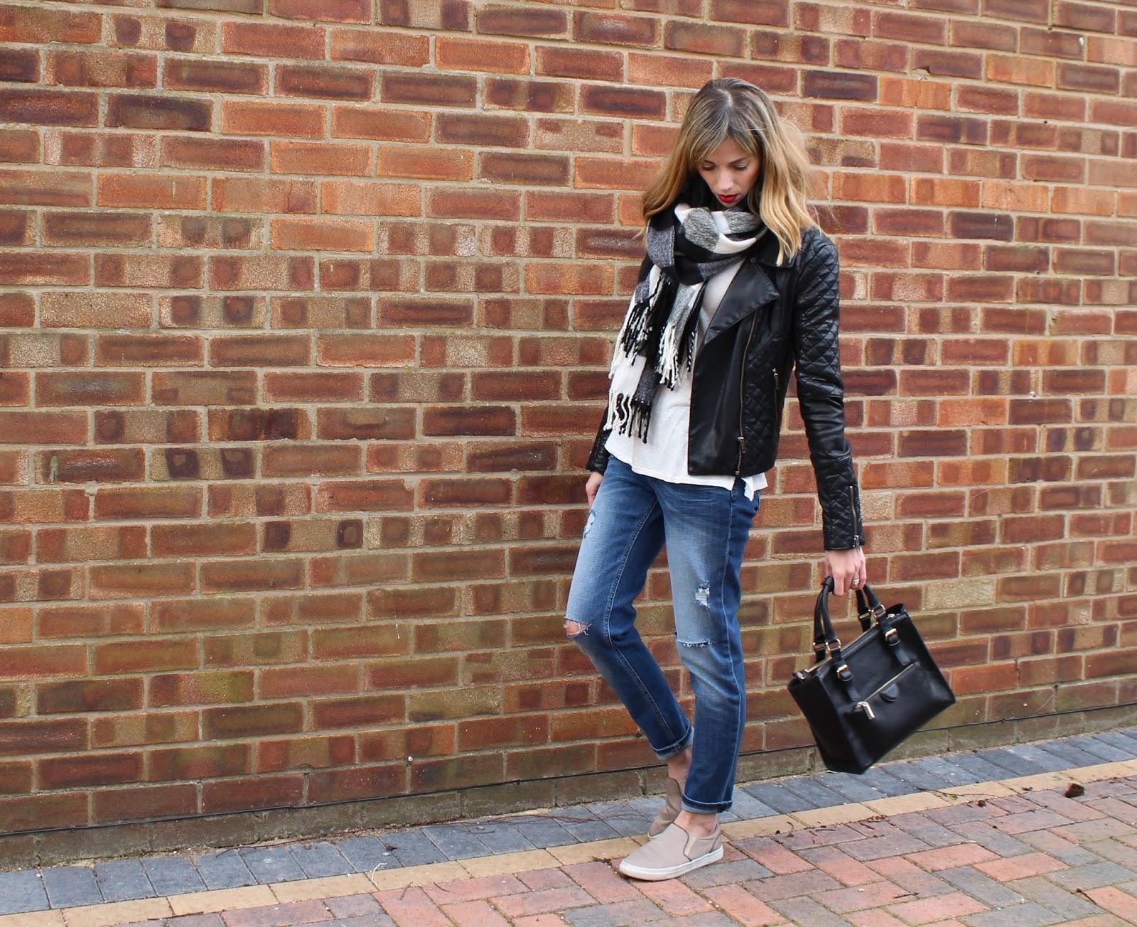 OOTD - H&M Girlfriend Jeans, Casual