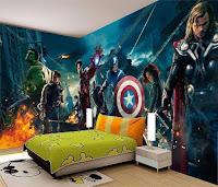 Vinilos de super héroes para decorar la habitación de los niños THE AVENGERS