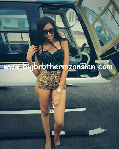 Blue Mbombo Taking Helicopter Flying Lessons 3