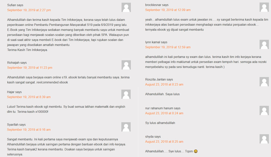 Rujukan PSEE Bantu Calon Lulus Peperiksaan Online