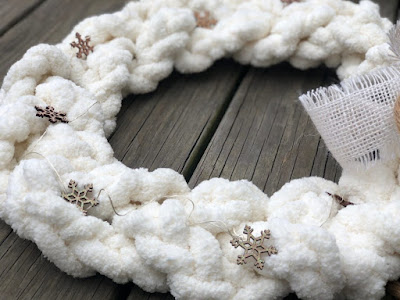 braided chunky wreath by just that perfect piece