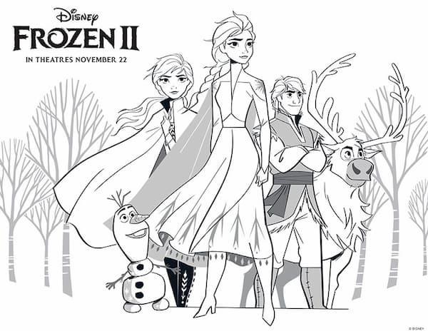 Dibujos De Frozen 2 Para Colorear Imagenes Y Dibujos Para Imprimir