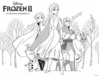 Dibujos de frozen 2 para colorear