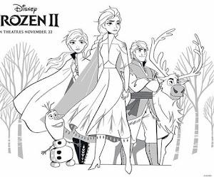 Dibujos de frozen 2 para colorear 👸