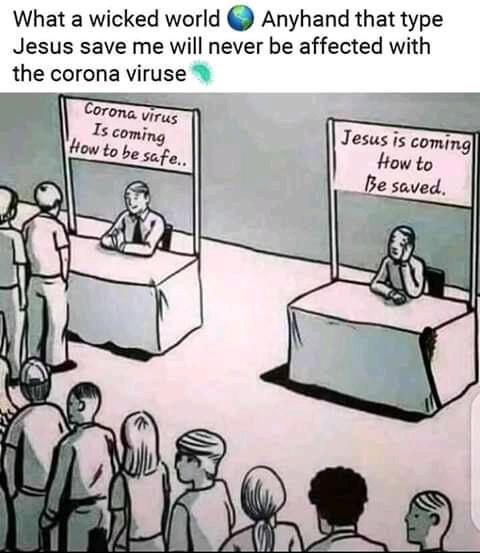 CORONAVIRUS IS COMING vs JESUS IS COMING