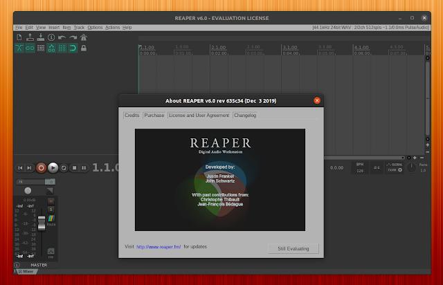 REAPER DAW Linux