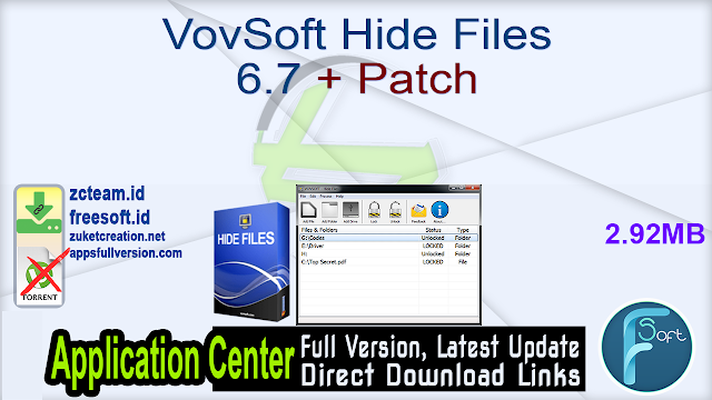 VovSoft Hide Files 6.7 + Patch_ ZcTeam.id
