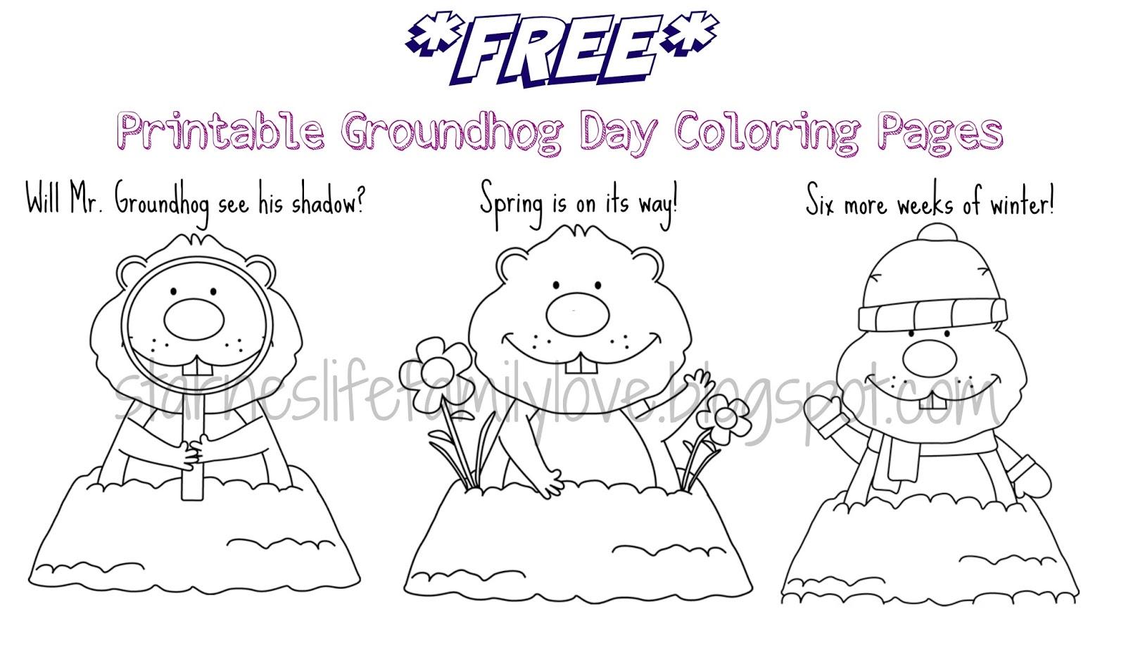 Life. Family. Love.: Groundhog Day Fun Plus *FREE* Printables