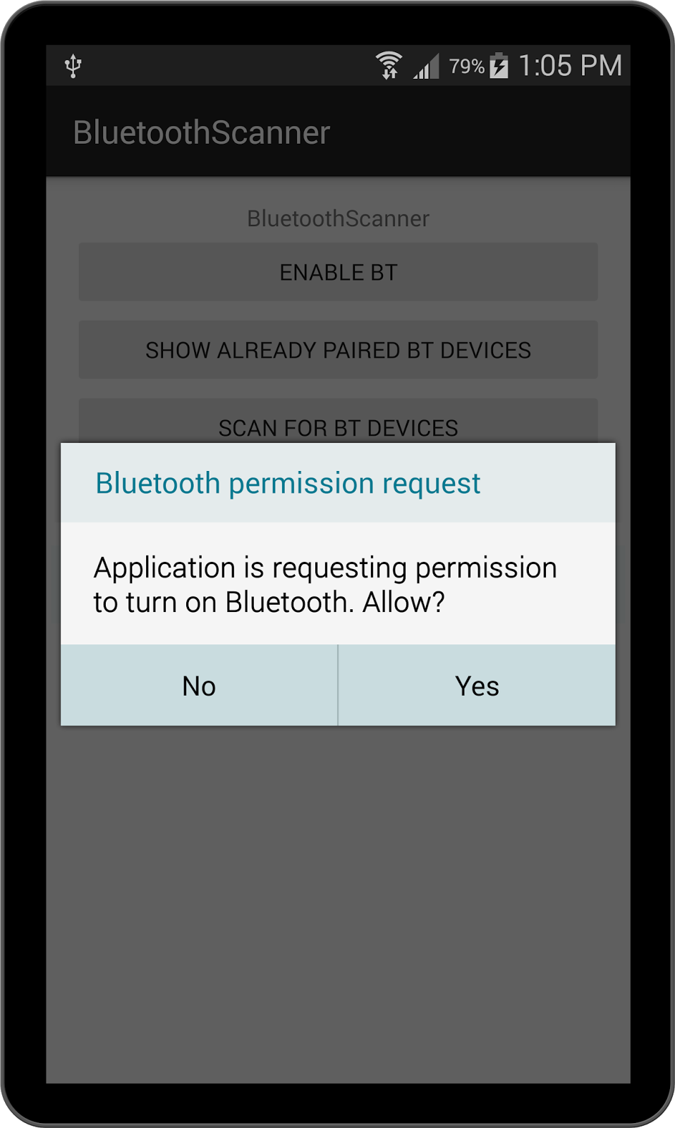 Too Many Tutorials: Scanning for Bluetooth devices in Android
