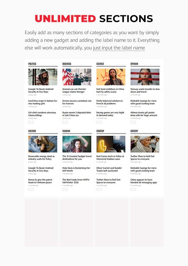 Newspaper - News Magazine Blogger Theme - 6