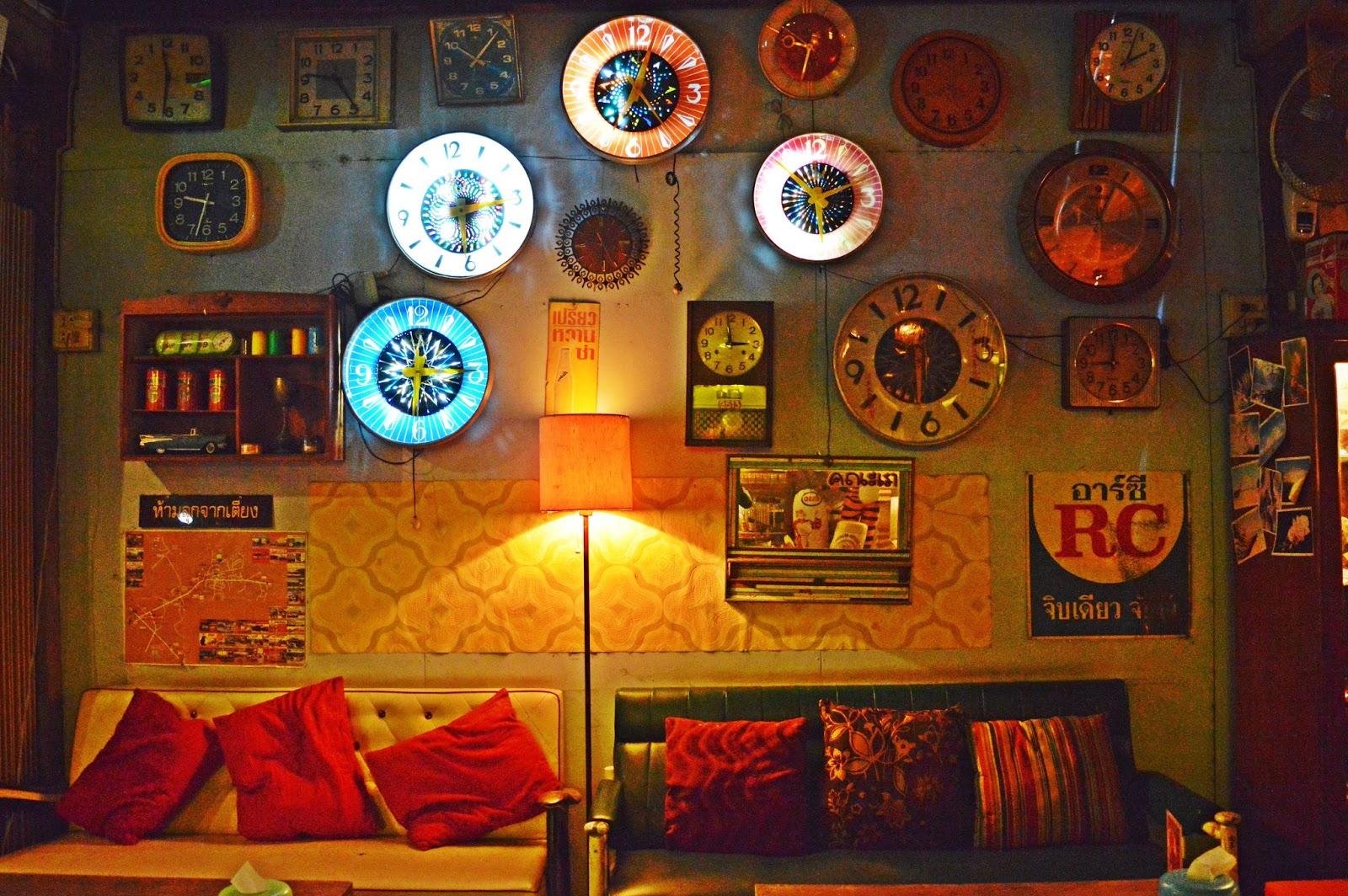 Display wall of clocks