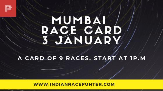 Mumbai Race Card 3 January
