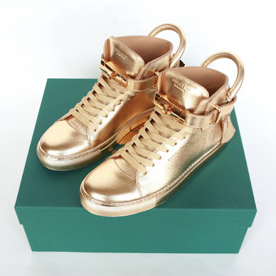 buscemi gold hi tops