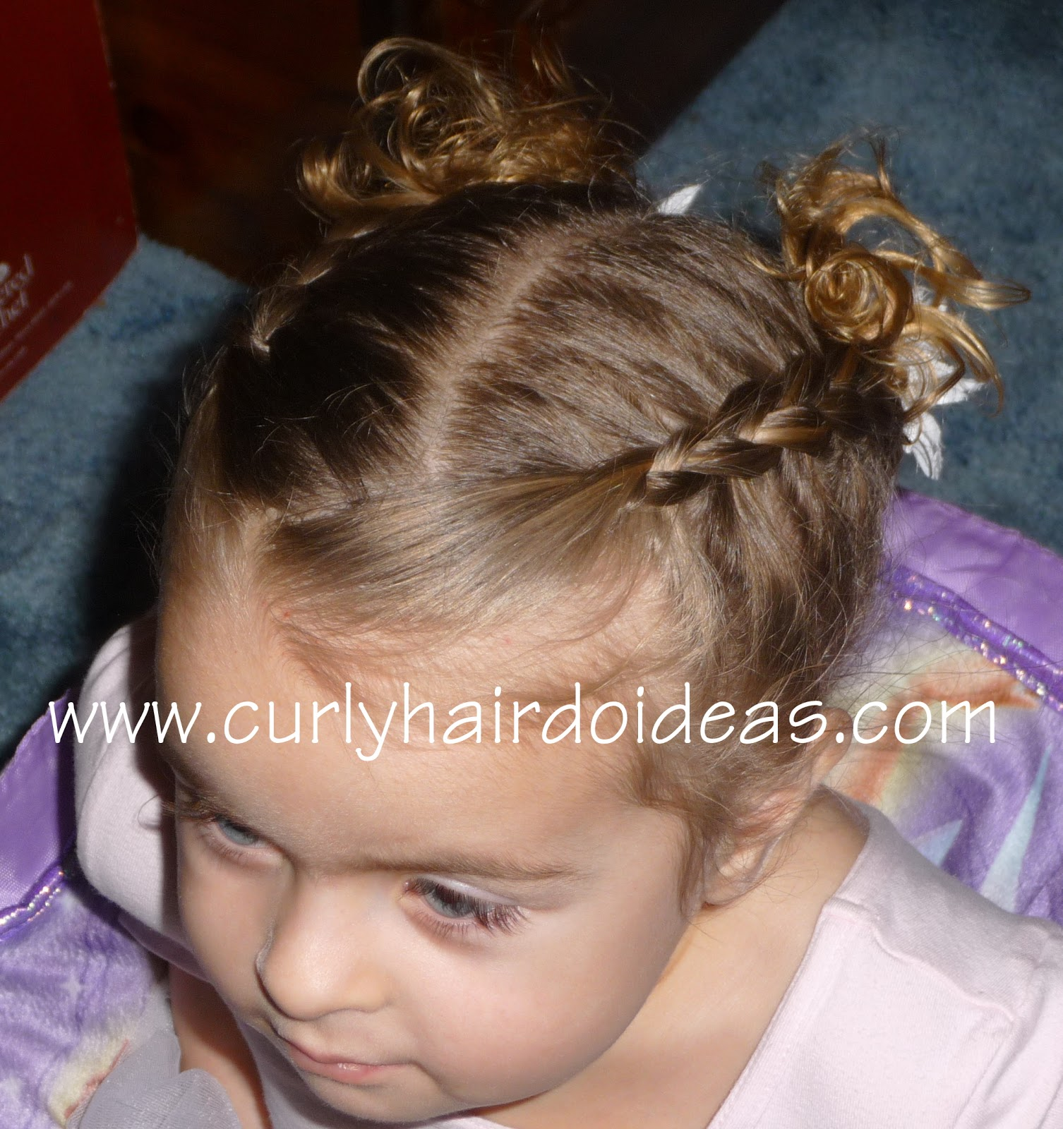 Curly Hairdo Ideas: Toddler Dance Hairstyle