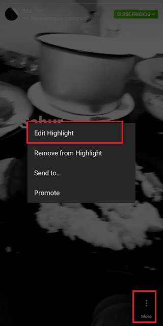 Cara membuat highlight Instagram
