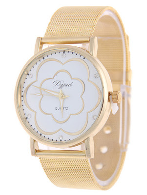Rhinestone Flower Watch