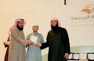 Mahasiswa Indonesia Asal Bima Juara 1 Lomba Khatib di Universitas Majma'ah Saudi