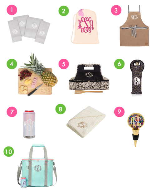 Monogrammed Houseware Gifts