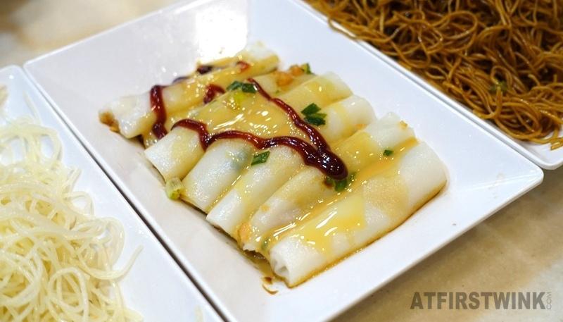 Ocean Empire Congee 海皇粥店 North Point 蝦米腸粉 mini dried shrimp rice rolls peanut and sweet sauce