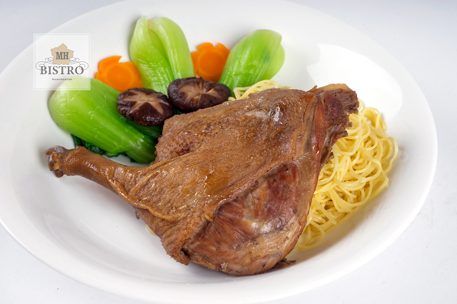 Stewed duck leg with noodle and soup | Mỳ đùi vịt tiềm
