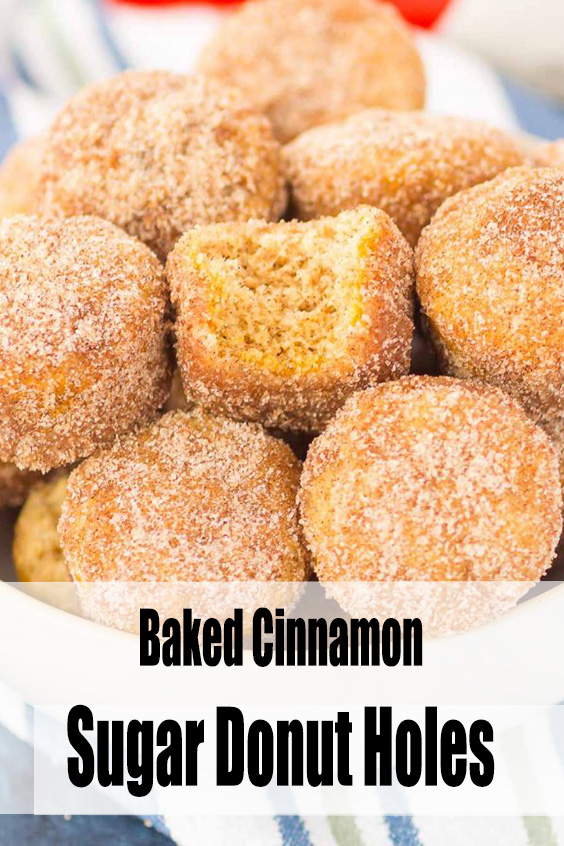 Baked Cinnamon Sugar Donut Holes Recipe