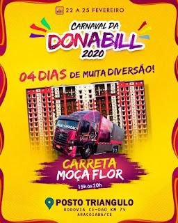 Banner do carnaval 2020 de Aracoiaba