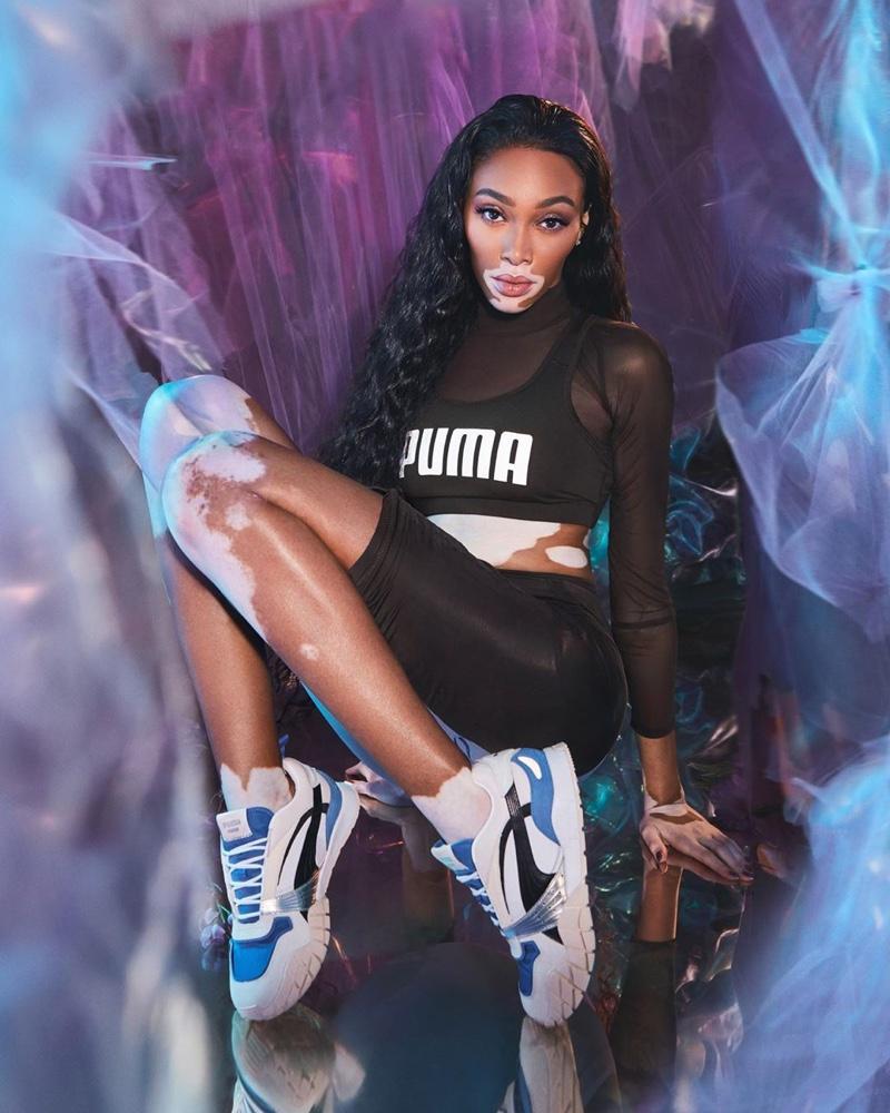 Winnie Harlow Rocks PUMA Kyron Sneakers in New Campaign