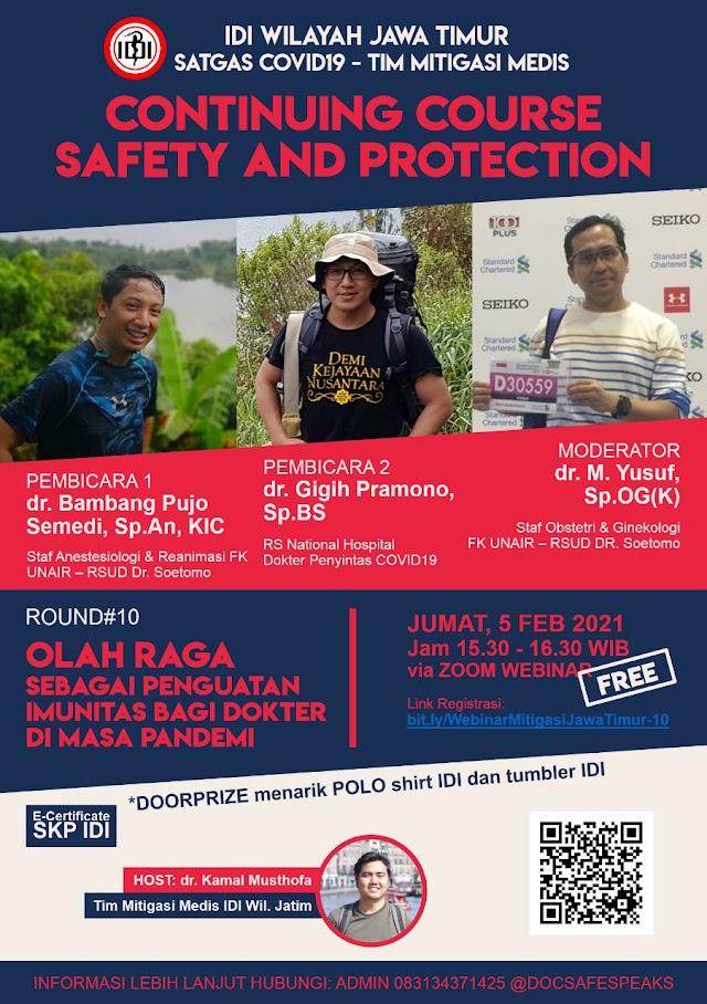 Gratis SKP IDI *Continuing Course  Webinar Safety And Protection ROUND 10 : Olah Raga sebagai Penguatan Imunitas bagi Dokter di Masa Pandemi*